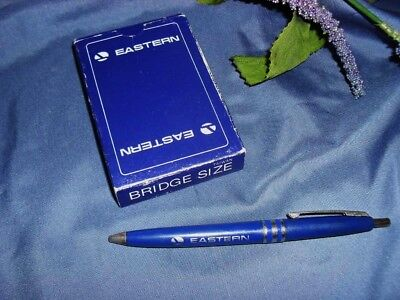 2pcs Vintage EASTERN AIRLINES DECK OF CARDS; BALLPOINT PEN