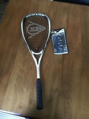 Dunlop Blackstorm Squash Racket And Balls
