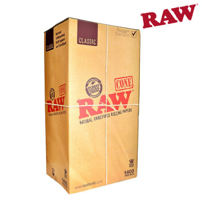 RAW Natural Cones Pre-Rolled King Size Box 1400 - CERTIFIED RAW Re-seller
