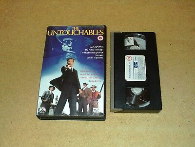 The Untouchables - Ex-Rental Big Box VHS Video Kevin Costner CIC Embossed Box