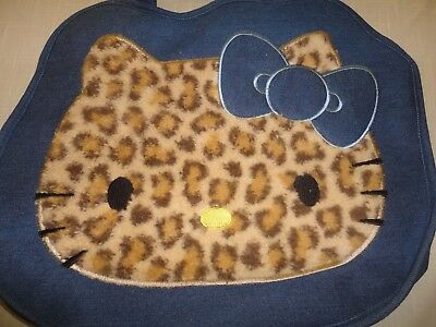 Adorable Hello Kitty Denim Bag Purse Books Sanrio Leopard Face New With Tags