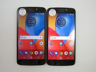 Lot of 2 Cracked Motorola Moto E4 Plus XT1776 Unknown Carrier CheckIMEI CR 3-807