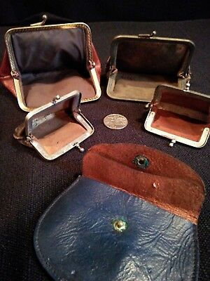 Lot of 5 Small Vintage Coin Purses