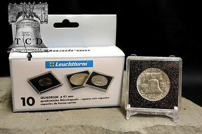 5 QUADRUM Coin Holder Snap 2x2 Capsule 16mm 1/10oz American Eagle Storage Case