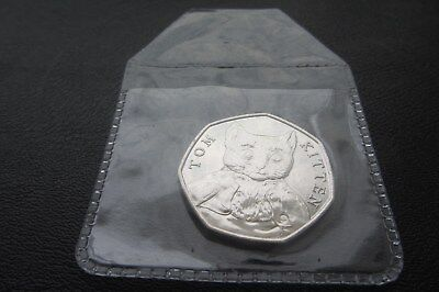 2017 BEATRIX POTTER  COIN 1 x 50p 'TOM KITTEN' UNCIRCULATED !!Free p&p       M11