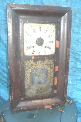 Clock Parts Usa Ansonia  Wall  Clock Tatty  Non Runner  Spares Only