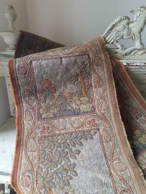 Pair of 19thC Antique French Narrow Tapestry Panels Featuring Woodland Animals