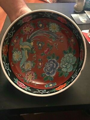 Japanese painted pottery bowl