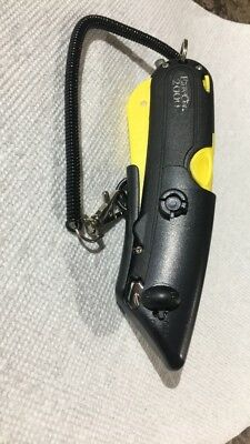 Easy Cut 2000 Yellow Safety Box Cutter Knife w/ Holster & Rope, 10+ Blades