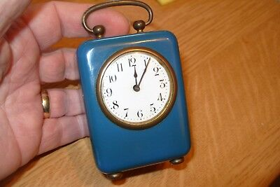 Clock Working Time  Piece  Enamel  Dial  Ticking Key Wound