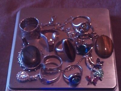 Beautiful Sterling Silver Mixed Jewelry Lot !! Mostly RINGS !!!