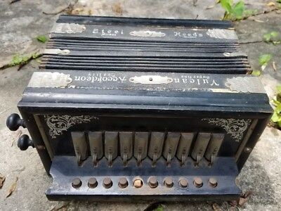 Antique Vulkan Steel Reeds Accordion / Accordeon Best Make Made in Germany