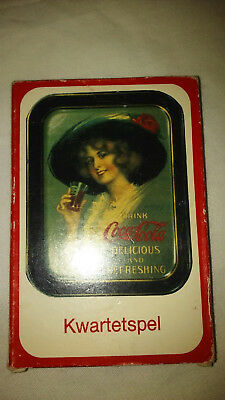 Kwartetspel Coca Cola Playing Cards w/ads on cards, instructions in description