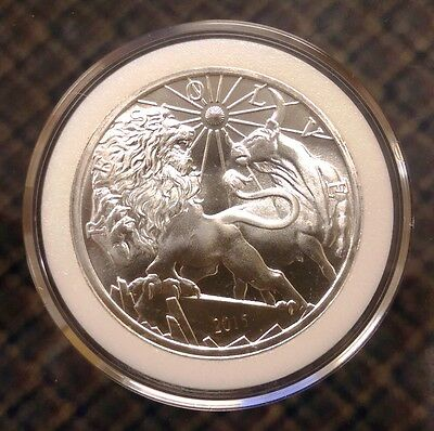 Silver Bull and Bear 1 oz silver MODERN ANCIENTS 1st issue lydian lion Inspired