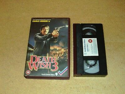 Death Wish 3 - Ex-Rental Big Box VHS Video Charles Bronson Guild Embossed Box