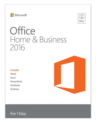Microsoft MAC Office 2016 Home and Business (Outlook, Word, Excel,) Vollversion