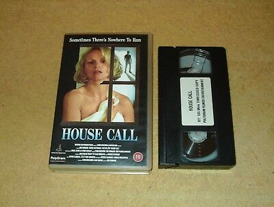 House Call - Ex-Rental Big Box VHS Video Renee Soutendijk Timecode Sample