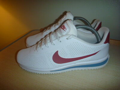 254b5f1a6ce NIKE CORTEZ ULTRA Size Uk 7 White Leather Trainers Red Blue - EUR 75 ...