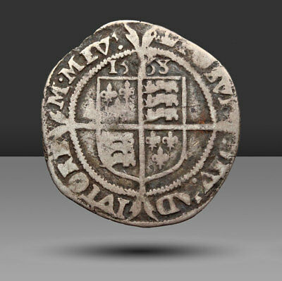 ENGLAND. Elizabeth I Hammered Silver Sixpence, Third and Fourth Issue, 1568