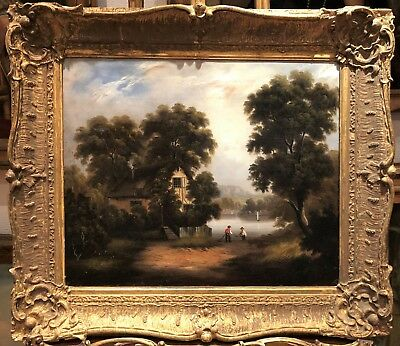 OIL PAINTING FINE MASTER PAINTER CIRCA 18th Century PIECE British Romantic Scene