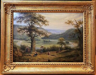 OLD MASTER OIL PAINTING 18th CENTURY French School FINE DETAIL GOLD GILT FRAME