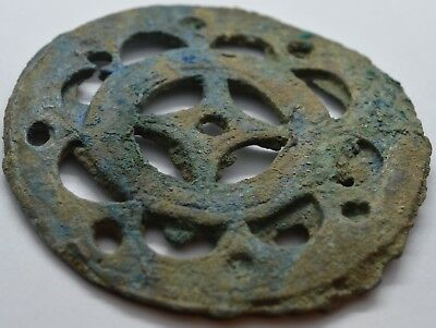 Large Bronze Buckle Onlay Cimmerian sign 2000-1000BC. Rare