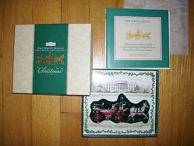 2001 White House Historical Association Christmas Ornament with booklet