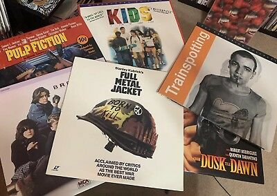 Video Laser Disk Lot - KIDS, Pulp Fiction, Trainspotting, Breakfast Club + More