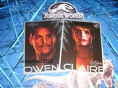 Panini Jurassic World Fallen Kingdom Limited Edition - Owen and Claire