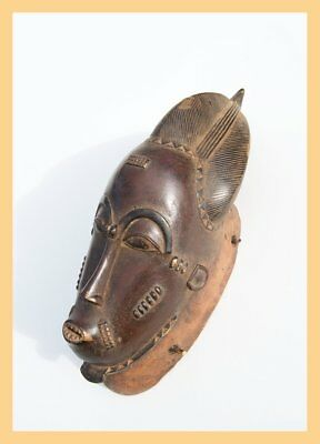 LOVELY BAULE MASK - Old Wooden Baule Mask, From the Ivory Coast. West Africa