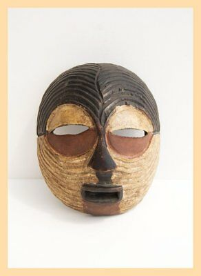 LUBA TRIBE MASK - One Wooden, Luba Tribe Mask. From the Congo, Central Africa