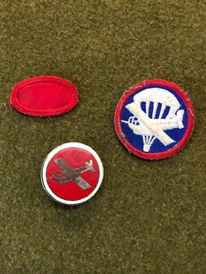 RARE AND ORIGINAL WW2 British Made Metal/Enamel Airborne Glider Cap Badge