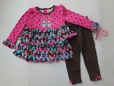 fcd3cd815827 NEW Nannette Toddler Girls 2 Piece Outfit Size 24 Mo Tunic Top Leggings Set  Lot