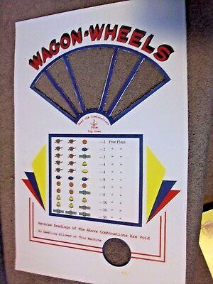1930's ABT Wagon Wheel Trade Stimulator Arcade Replacement Face Plate