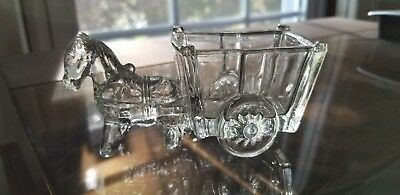 Vintage Horse And Cart Candy Container