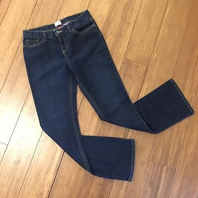 The Childrens Place Bootcut Boot Cut Stretch Jeans 14 Slim Adjustable Waist Dark