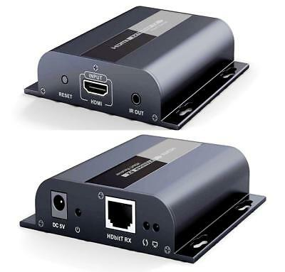 HDbitT HDMI Extender With IR Repeater LAN over RJ45 Cat5e/Cat6 1080P Up to 120M