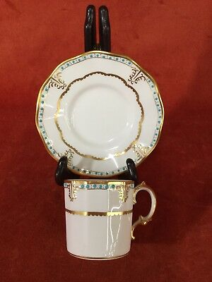 ROYAL CROWN DERBY LOMBARDY Demitasse Coffee Can Cup & Saucer 11 Avail.
