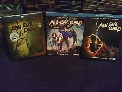 Ash vs Evil Dead: Complete Series (Blu-ray Disc, 6-Disc Set) 1, 2, 3 Slipcover