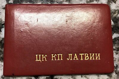 Soviet Russian Political ID Booklet