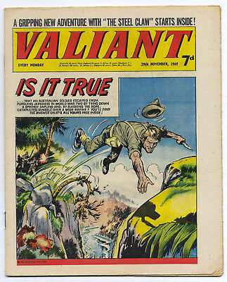 Valiant 29th Nov 1969 (very high grade)Steel Claw, Mytek the Mighty, Kelly's Eye