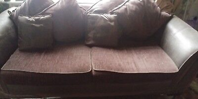 2 three seater sofas