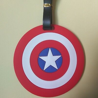 Travel Luggage Tags Labels Strap Name Address ID Suitcase Bag Captain America