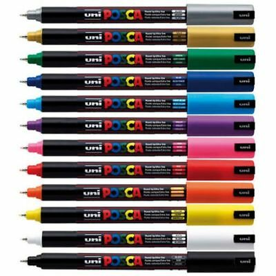 Posca Paint Marker PC-1MR Pen Fabric Metal Glass PACK SIZES & ANY COLOUR