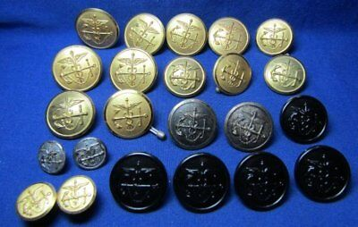 Pre-WWII to WWII Army Public Health Officer & Nurse Cadet Buttons Lot Of 23