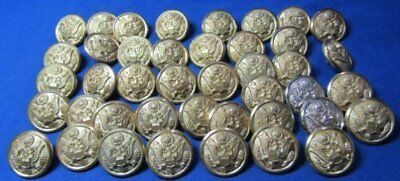 WWII Army Officer Buttons Lot Of 42 by Luxenberg