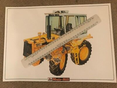 Vintage Muir Hill 121 Cutaway Advertising Brochure Poster Leaflet