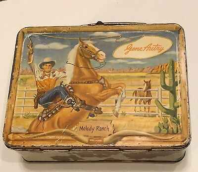 RARE 1950's Gene Autry Cowboy Melody Ranch Vintage Metal Lunchbox Universal