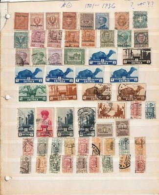 Italian Colony ERITREA 1901-1936 Collection 75 Used and Unused Stamps