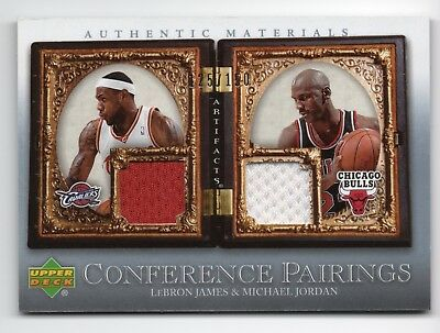 2007-08 Upper Deck Artifacts LEBRON JAMES MICHAEL JORDAN Game-Used Jersey #d/150